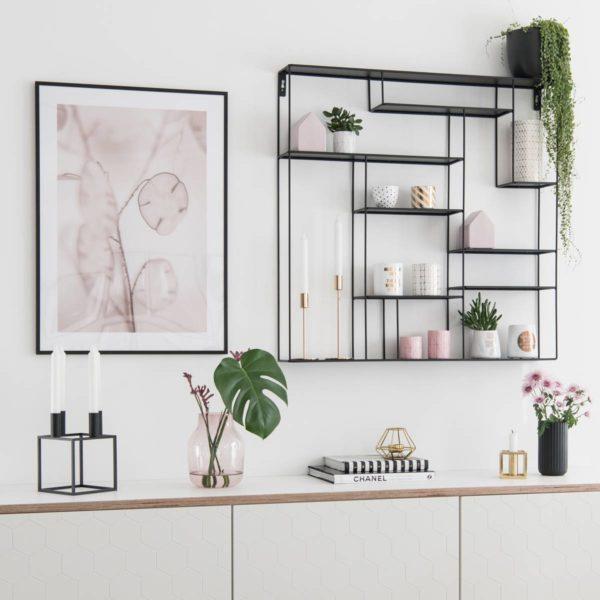Wandregal schwarz Metall fürs Esszimmer, Flur, Küche
