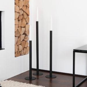 Storefactory Kerzenhalter Bodenkerzenständer Ekeberga schwarz, lang