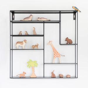 Wandregal schwarz für Kinderzimmer, metall, 60 x 60 cm, Bruka Design