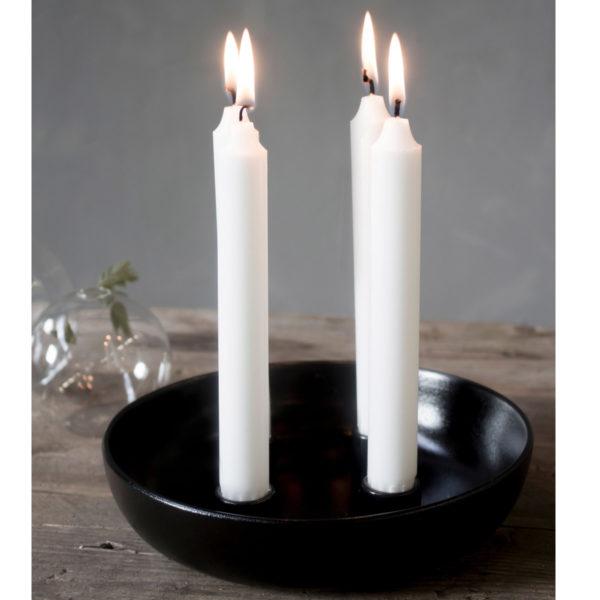 Lidatorp mit vier Kerzen schwarz