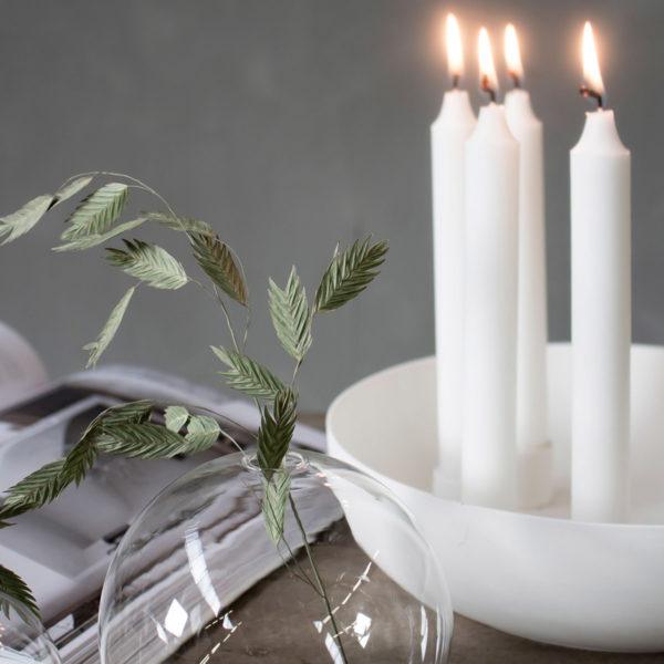 Storefactory Kerzenständer Kvistbro, weiß, für vier Kerzen