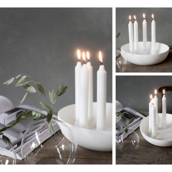 Storefactory Kvistbro, weiß, für vier Kerzen