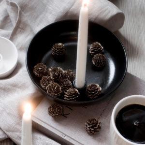 Storefactory Lidatorp schwarz glasiert, für eine Kerze