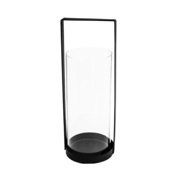 Storefactory Windlicht, Laterne Kvarnvik, 50 cm,schwarz