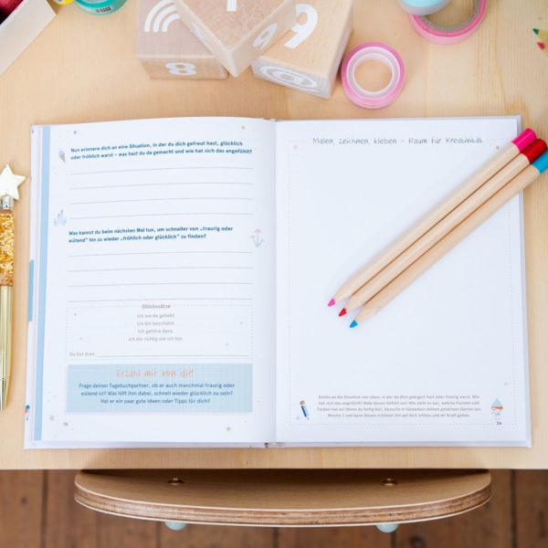 Tagebuch für Kinder, Buch über das Glück