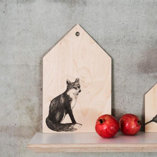 Miiko Schneidebrett Fuchs Holz