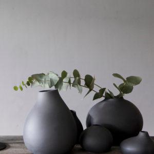 Storefactory Vase Kalla dunkelgrau 302144