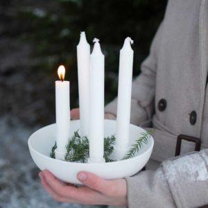Granulomen Kerzenhalter weiss 21 cm