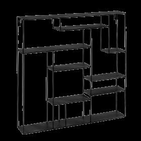 Wandregal schwarz 80 x 80