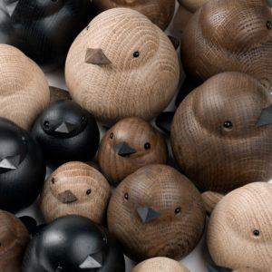 Vogelfiguren modern Eichenholz
