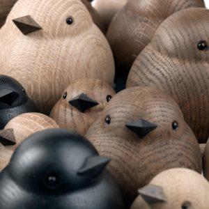 Vogelfiguren Eichenholz